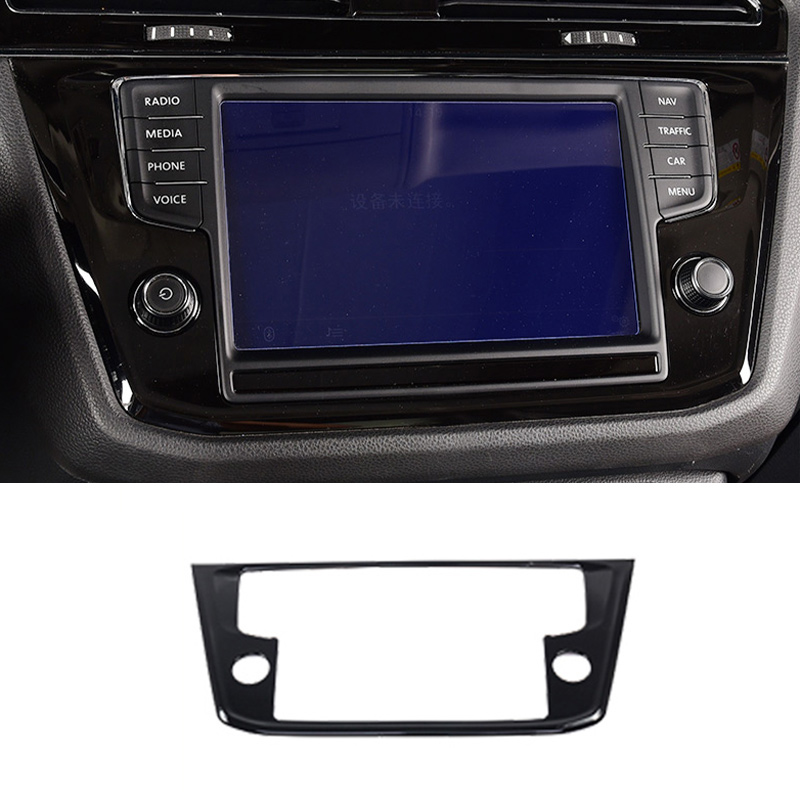 For Volkswagen Tiguan 2017-2021 ABS Black Central Console ...