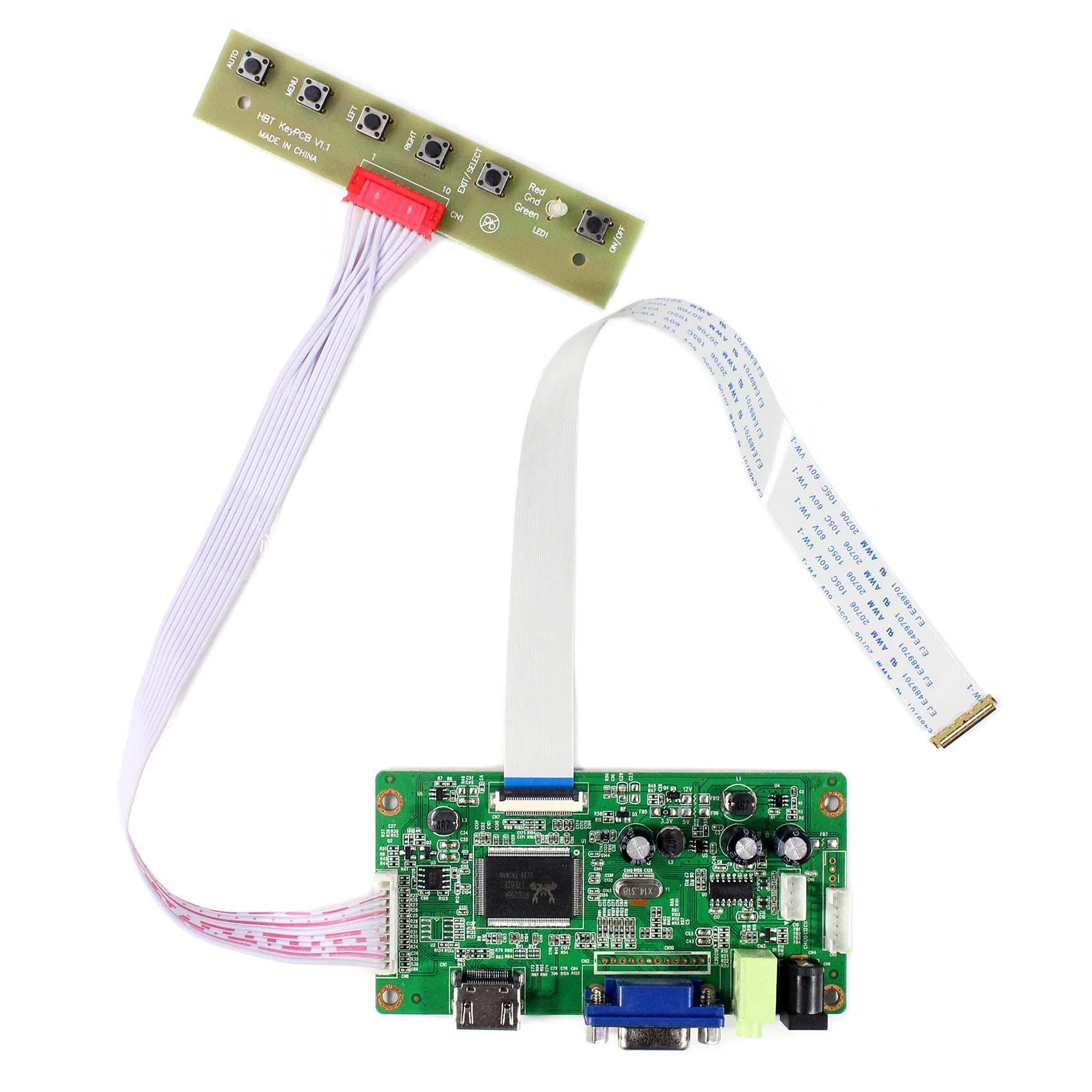 B156HW01 LP173WF1 TV//HDMI//VGA//AV//USB//AUDIO LCD Control Board For 1920x1080 LCD