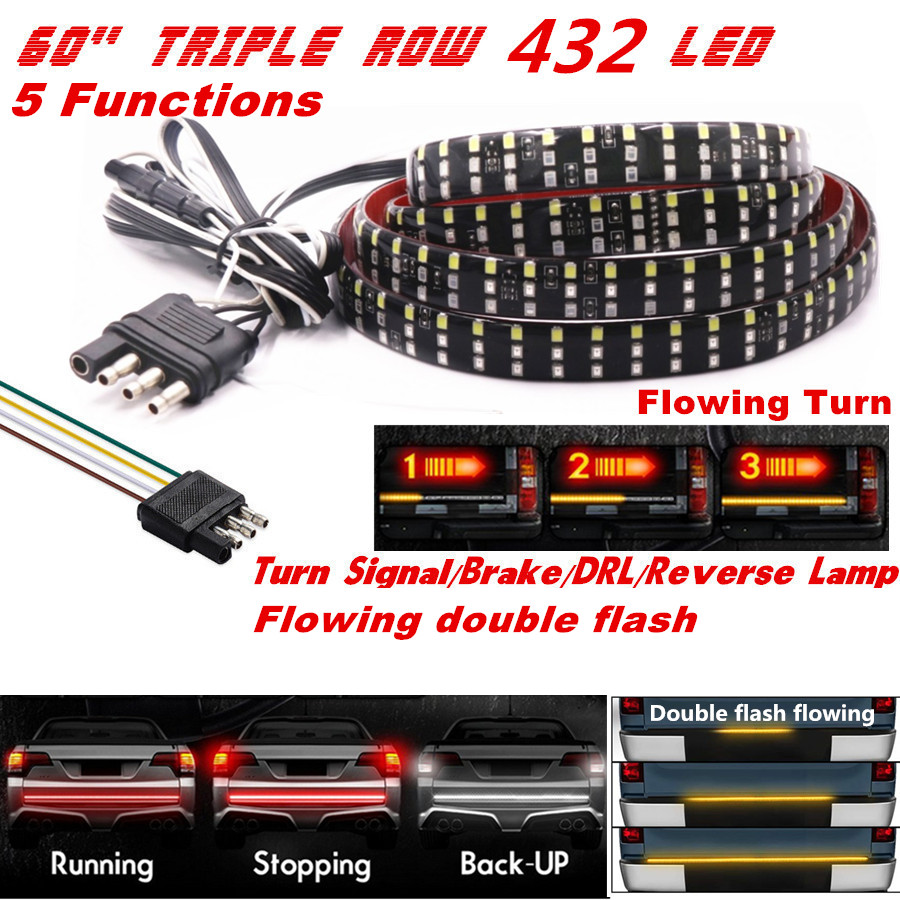 Pickup Car Led Tailgate Light Turn Signal Brake Reverse Double Flash Rampage Bar Wire Diagram Ip67