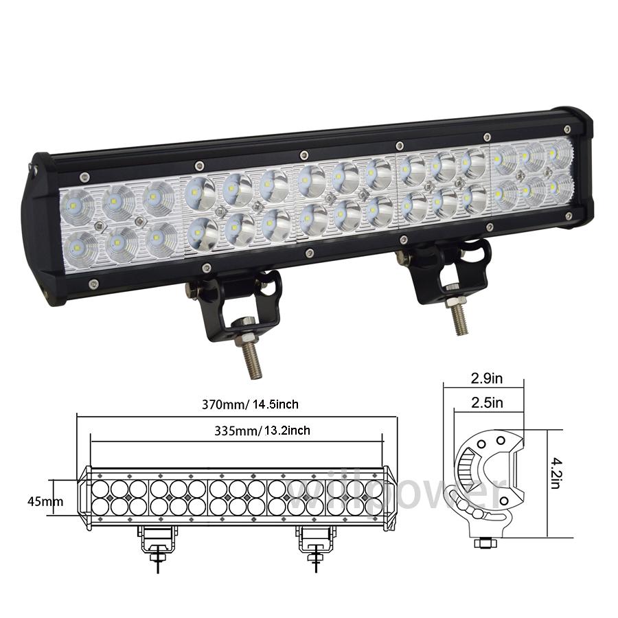 15PC 6 INCH 45W LED WORK LIGHT LIGHT BAR FLOOD OFFROAD DRIVING LAMP ATV 4WD 4X4