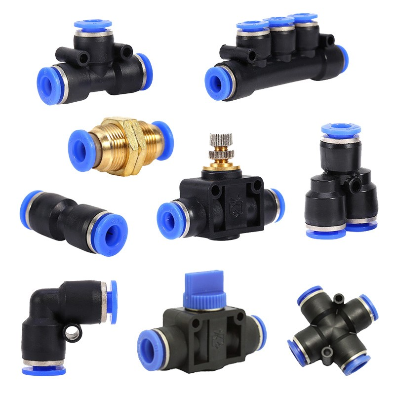 """10pcs 12mm-3//8/"""" Threaded Male Y Pneumatic Jointer Connector"""