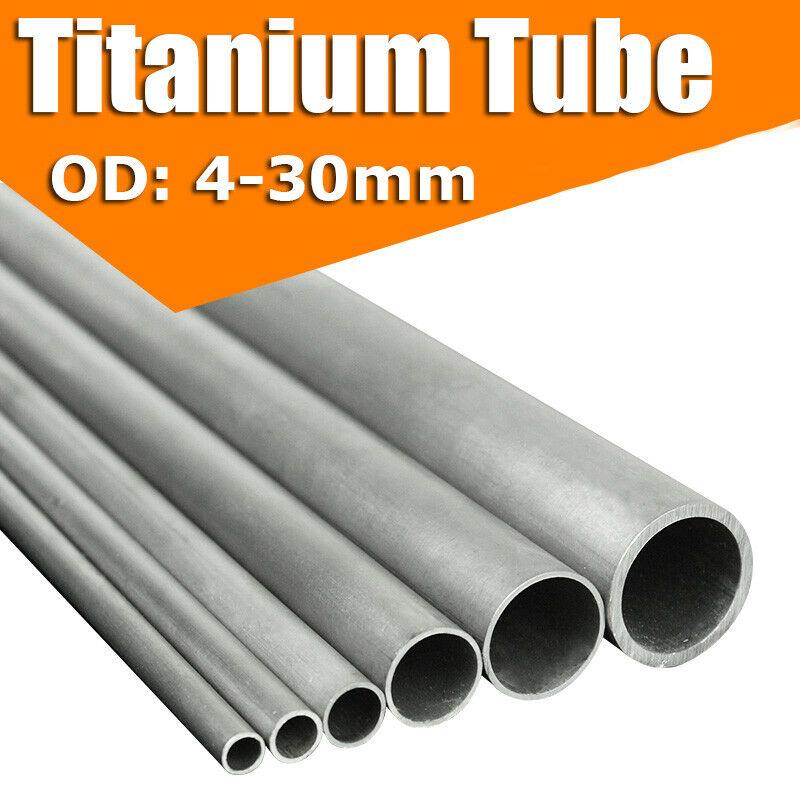 "0.5//1//1.5//2//3mm 12/"" 300mm Gr2 Titanium Tube Ti Pipe OD 10-30mm High Intensity"