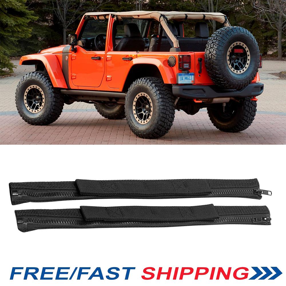 Pair Black Door Check Limiting Heavy Super Strap For Jeep Wrangler JK YJ TJ CJ