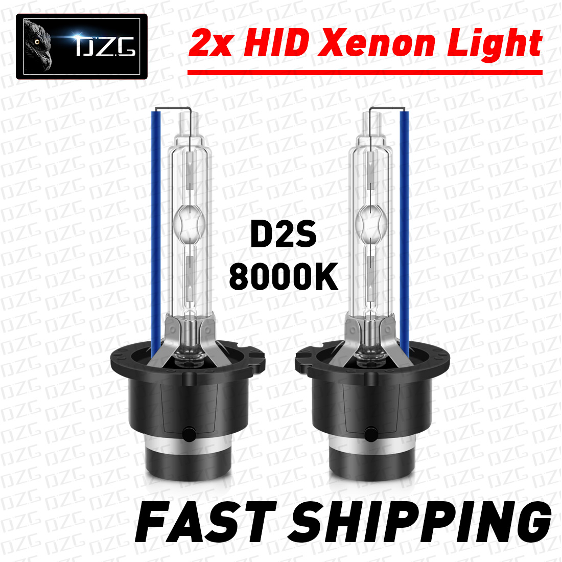 PAIR of Replacement D2S 8000K HID Xenon Bulbs 8K for MAZDA Gas Discharge Upgrade