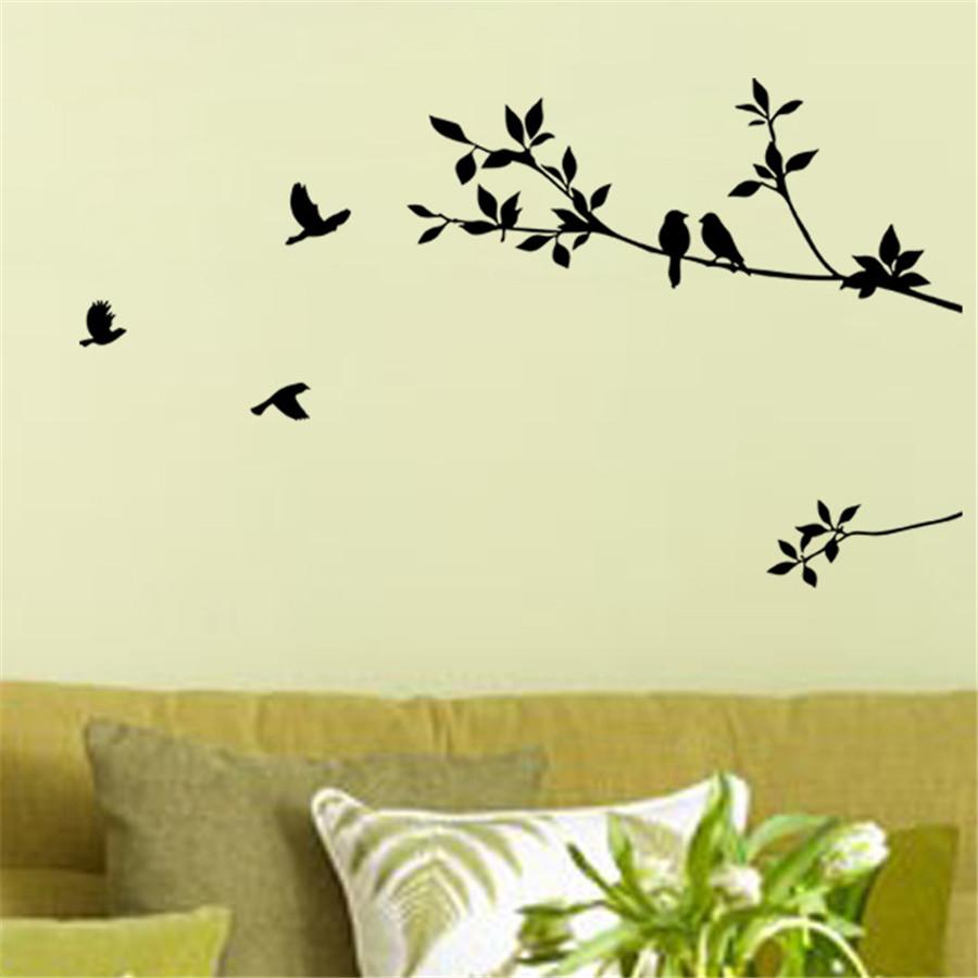 Wall Sticker Art Hot Tree Branch Bird Decor Room Home Decals DIY ...