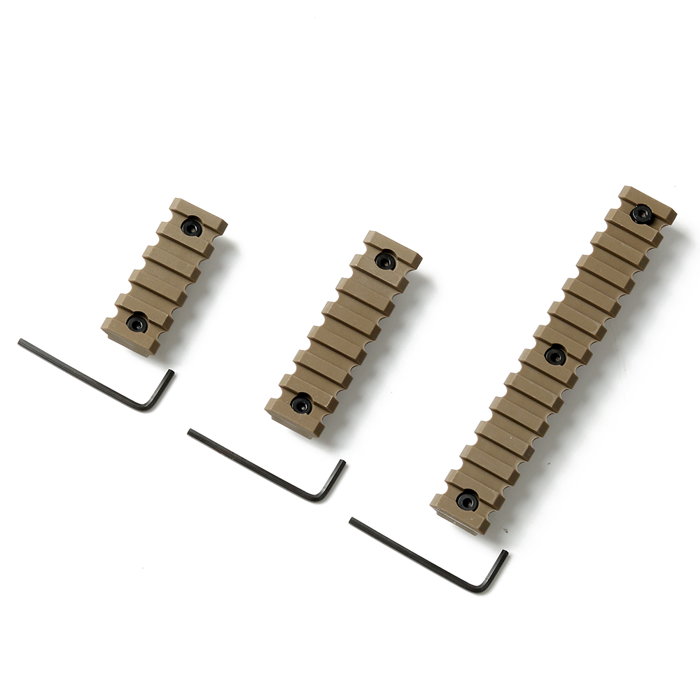 3PCS Set ABS Key Rail Section 5//7//13 Slot HAND Picatinny Weaver US