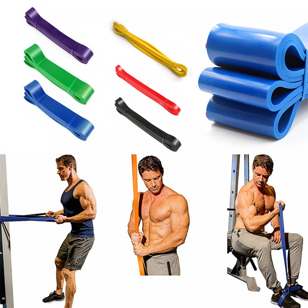 UK Strong Resistance Bands Loop Heavy Duty Exercise Sport Fitness Gym Latex D4D5