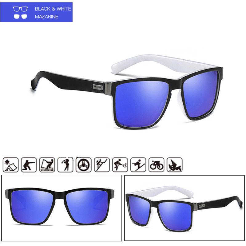 DUBERY Polarisiert Sonnenbrille Square Radfahren Sport Angeln Brille UV400 DE
