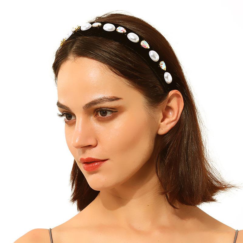 Women Fashion Pearl Hair Hoop Hair Band Elegant Headband Hairband Jewelry Gift