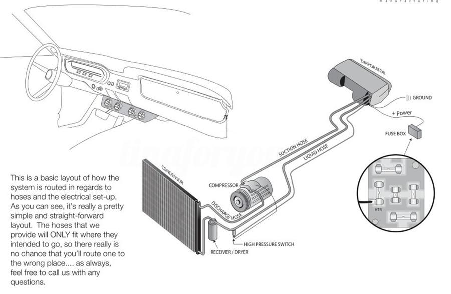 Universal 12v A  C Ac Kit Underdash Evaporator Compressor Air Conditioner 3 Speed 6155284501997