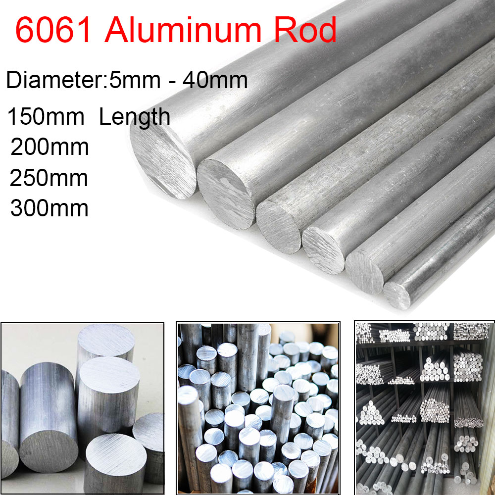 10pcs Φ8mm x 250mm ALUMINUM 6061 Round Rod D8mm Solid Lathe Bar Stock Cut Long