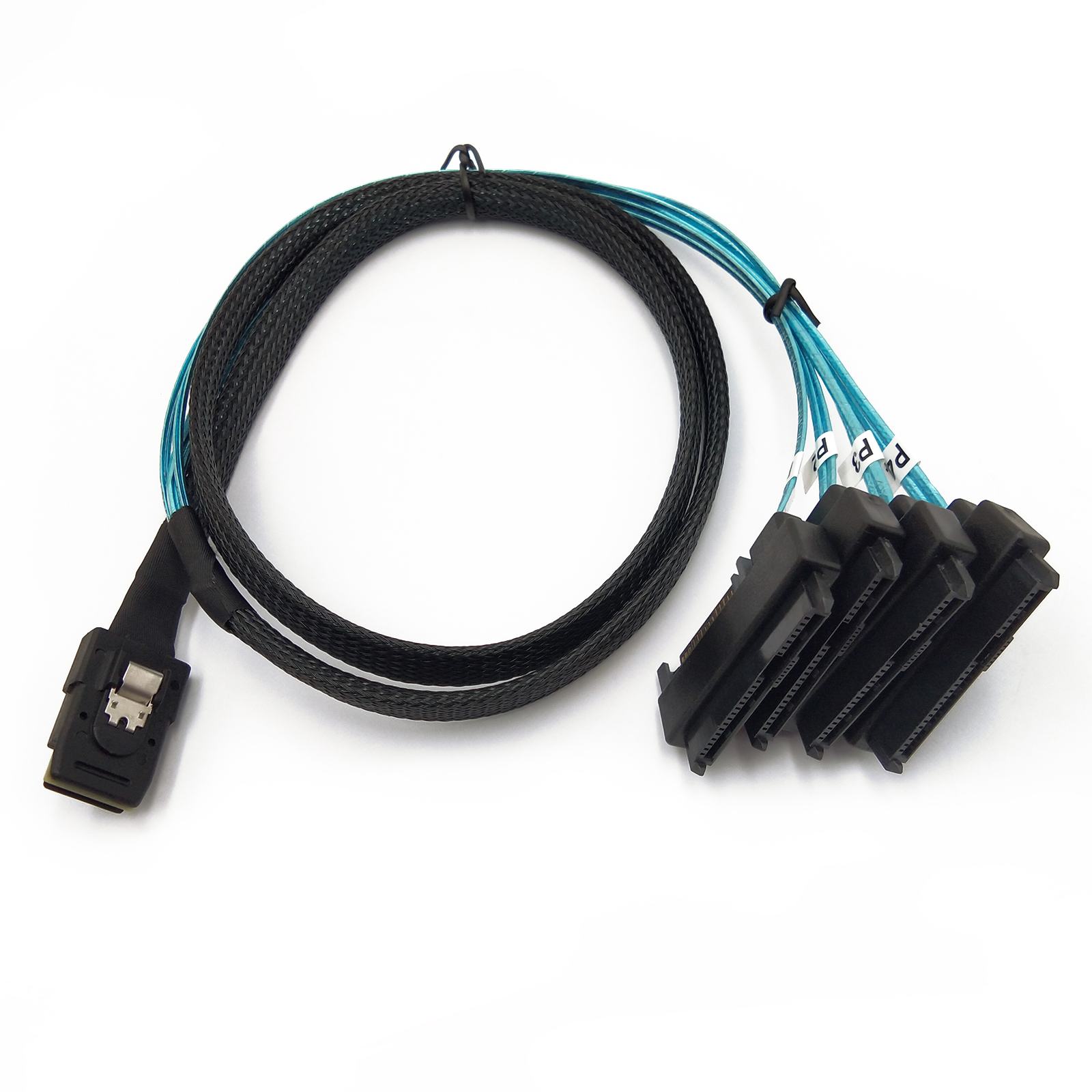 Standard Mini SAS Power Mini-SAS SFF-8087 to 4x SFF-8482 with 4x Data Cable 1M