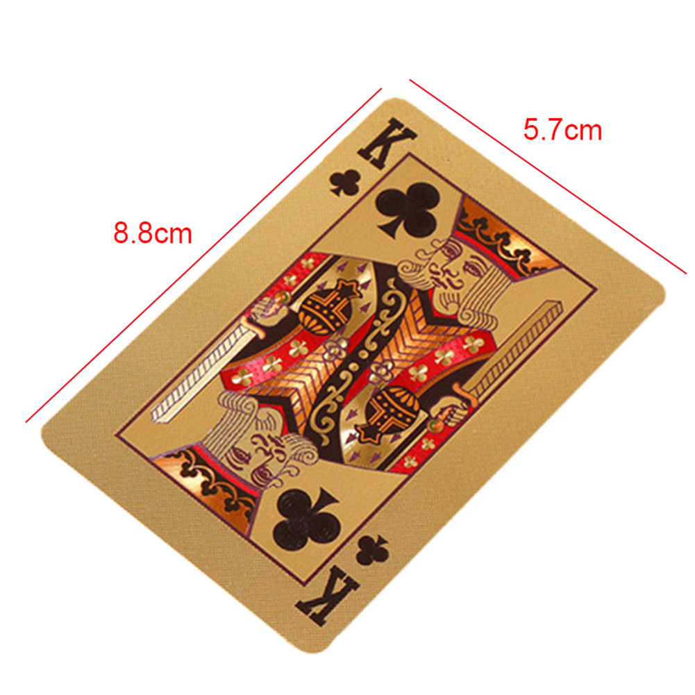 Sailout Foil Poker Durable Waterproof Poker Cards Deck Gold Foil Poker Set Card Games Toys Games
