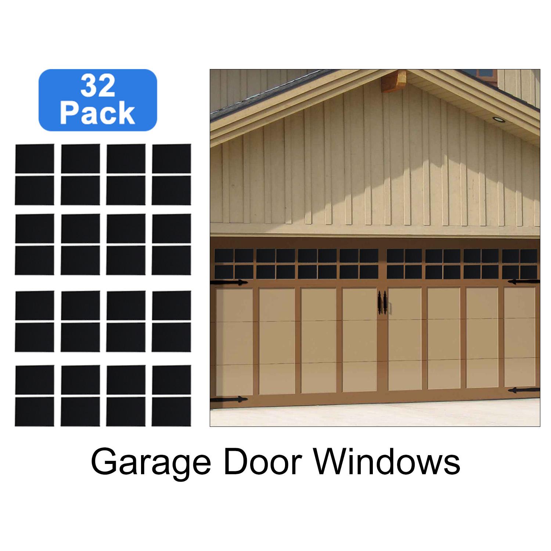32 Pack Magnetic Panel For Car Garage Door Decoration Fake Faux Window 6 125 X4 615200919986 Ebay