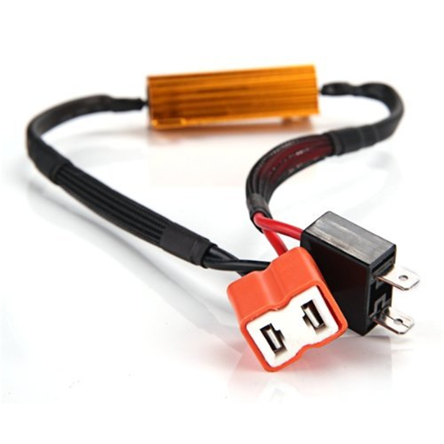 2x H7 6 Load Resistor Wiring Harness Led Light Decoder For 2 Pieces Of Brand New Ceramic Plug Error Free And Equips With 50w 60hm Resistors It Will Overcome The Problem