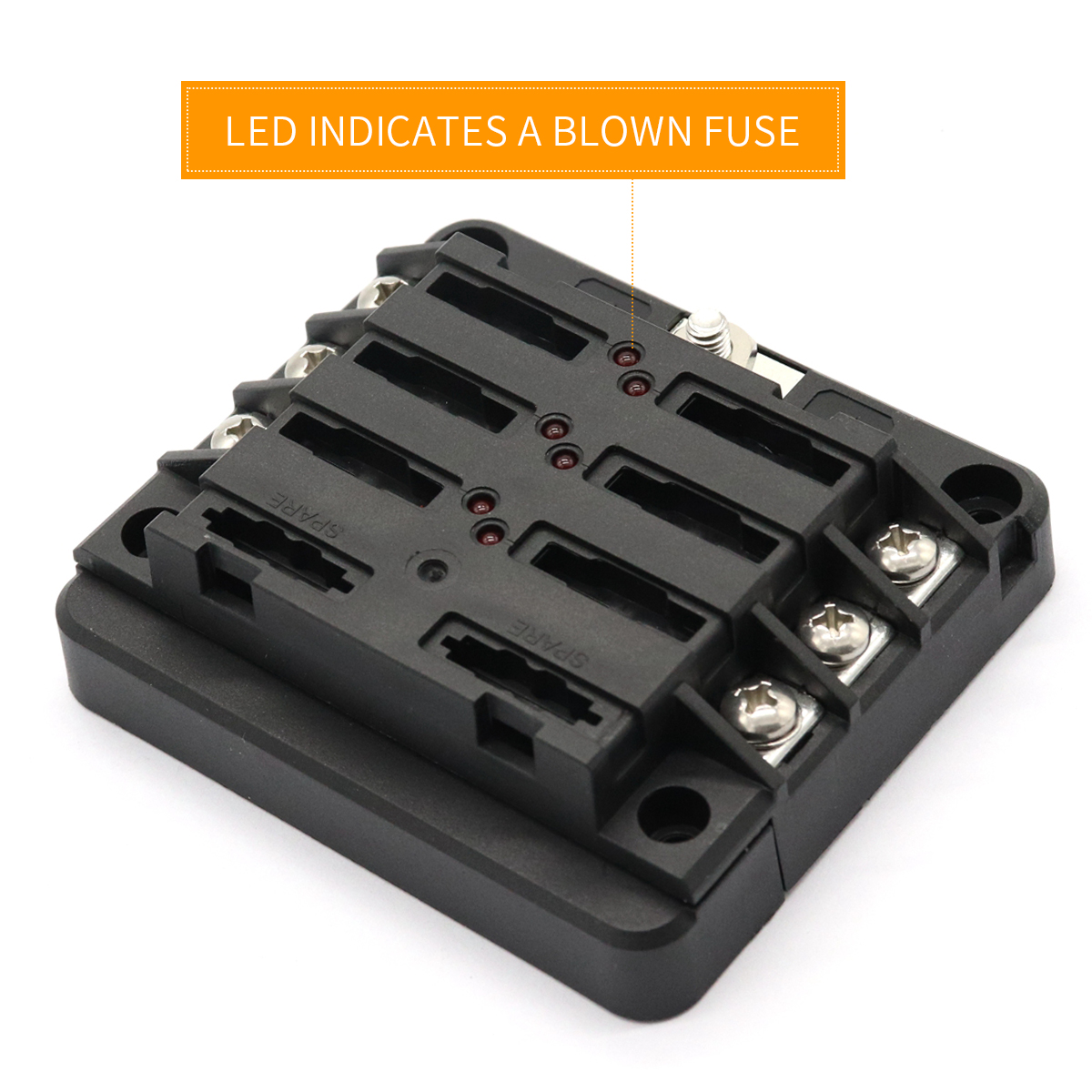 [QMVU_8575]  General 6 Way /12p Terminal Fuse Block Buss Bar 100A DIY Combination For  Motor | eBay | 6p Atv Fuse Box |  | eBay