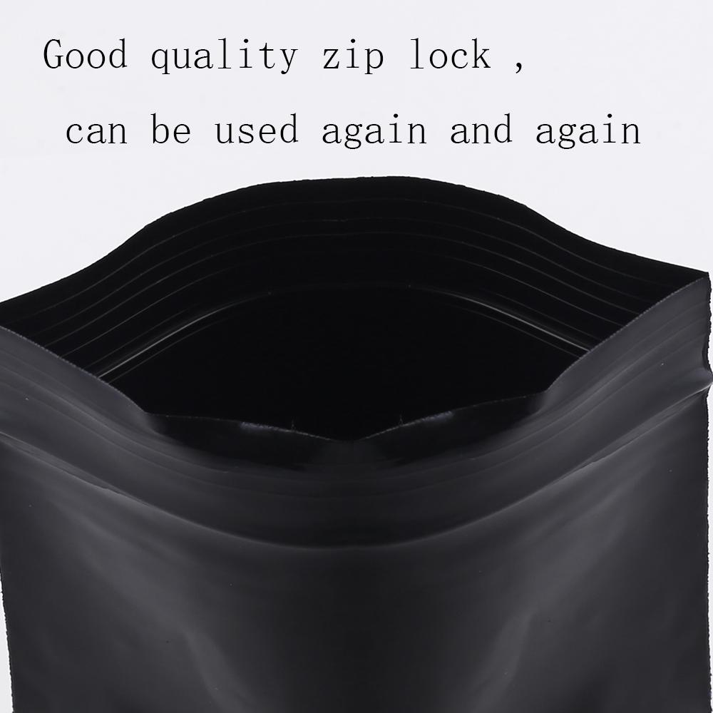 4x6in Flat Pink Poly Plastic Mylar Ziplock Bag w//Silica Gel Desiccant N05