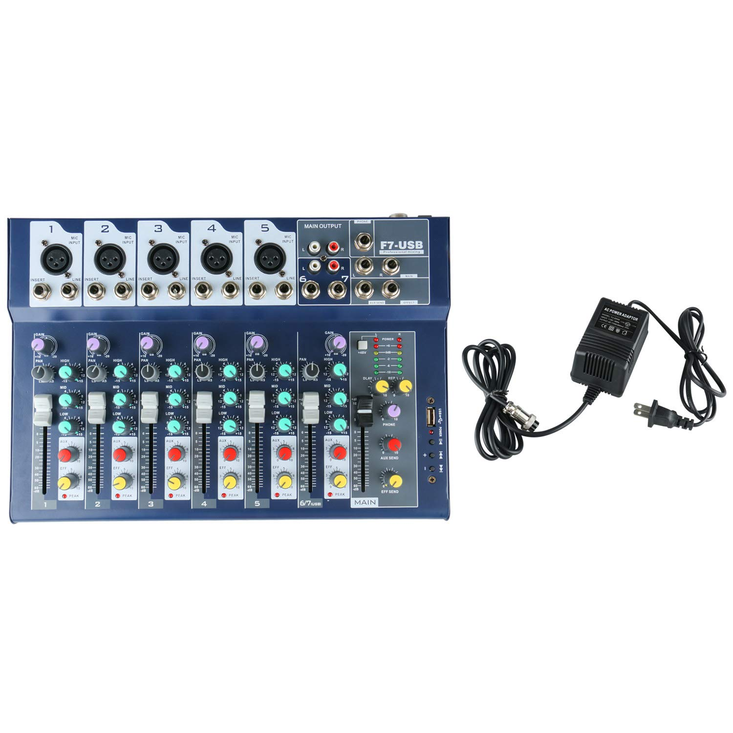 Details about Bluetooth 7 Channel USB Digital Mixing Studio Audio Sound  Mixer Console US Ship