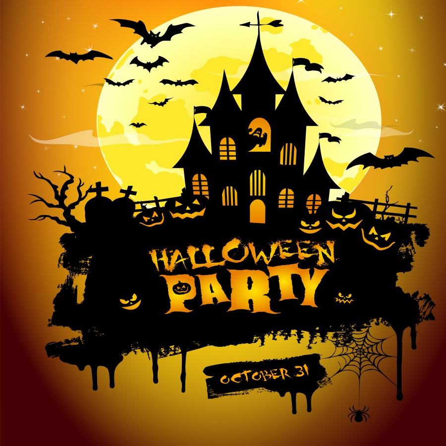 halloween party background ghost tomb props 6x6ft haunted house