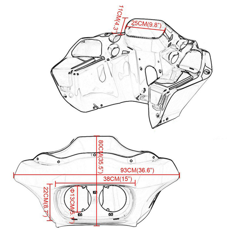 Unpainted Abs Injection Innerouter Fairing For Harley Fltr Road