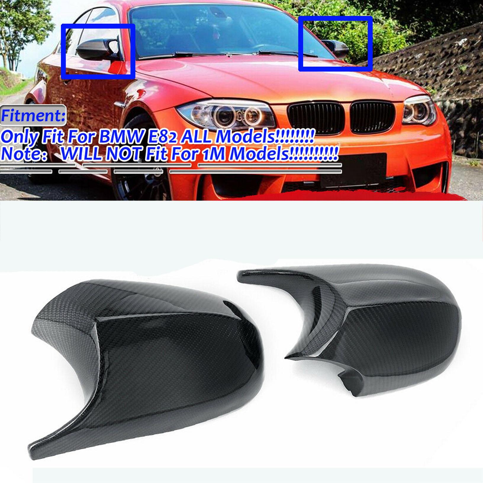 Carbon Fiber Side View Door Mirror Covers Set for BMW E82 E88 E81 E87 1-Series