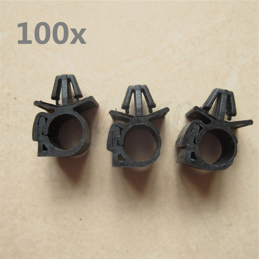 details about 100x car wiring harness fastener lock loom wire cable hose clip tie wrap holder Cable Retainer Clip