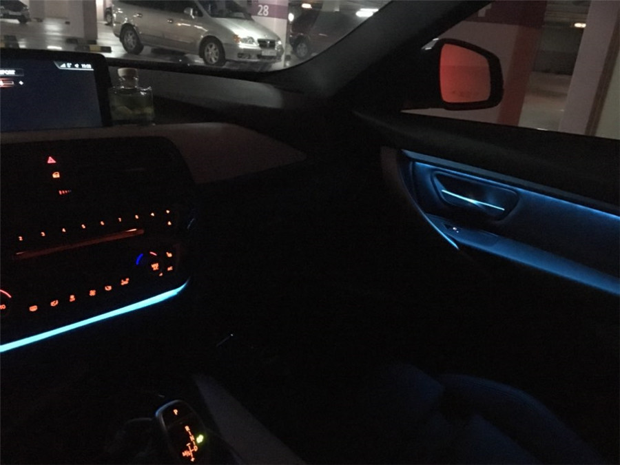 Updated Car Door Panel Decor Led Ambient Lights Atmosphere Lamp For