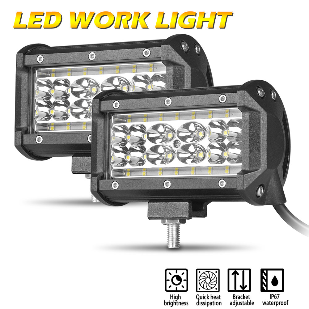 """4X 5/"""" 168W LED Work Light Bar Flood Combo Pods Driving Off-Road Tractor 4WD Boat"""