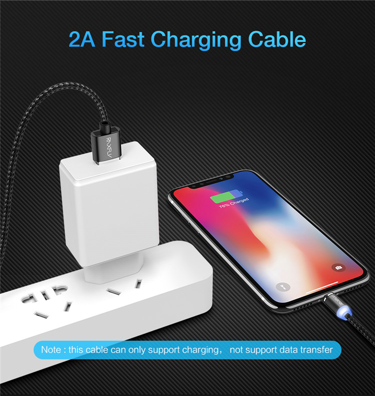 Braided Magnetic Lightning+USB Charger Charging Cable For iPhone Samsung Type-C 11