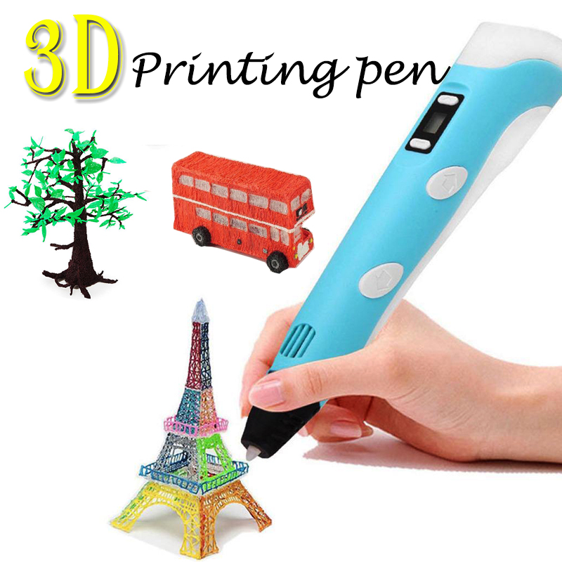 2nd 3D Printing Pen Craft Doodle Drawing Arts Printer Modeling PLA//ABS Filaments