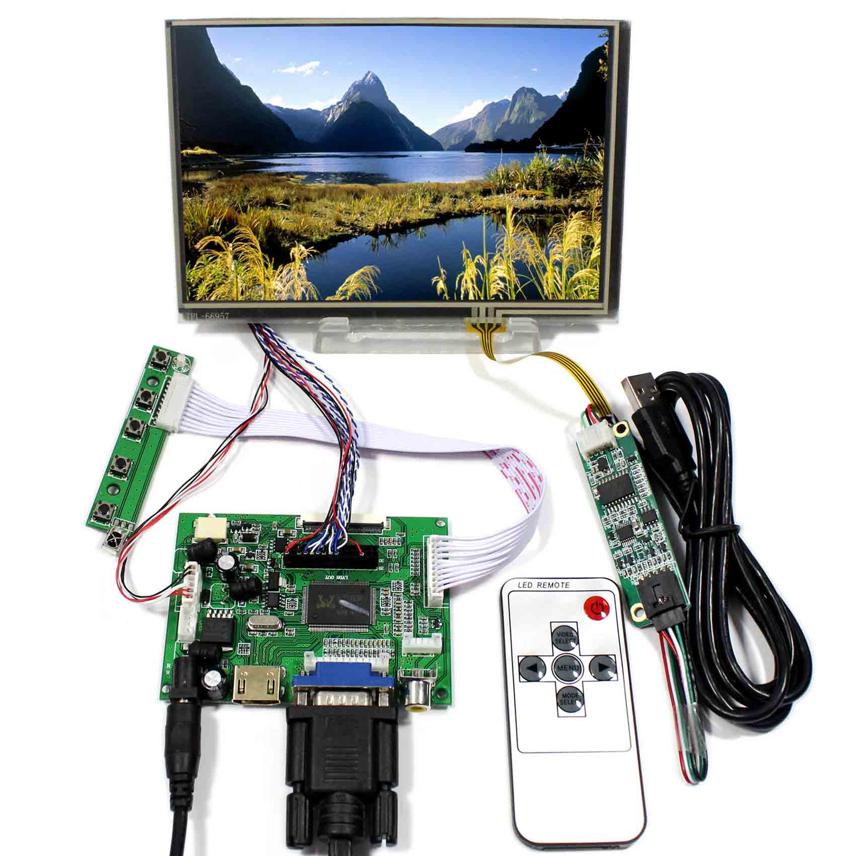 Details About HDMI VGA 2AV LCD Driver Board VS With 71280x800 N070ICG LD1 Touch Screen