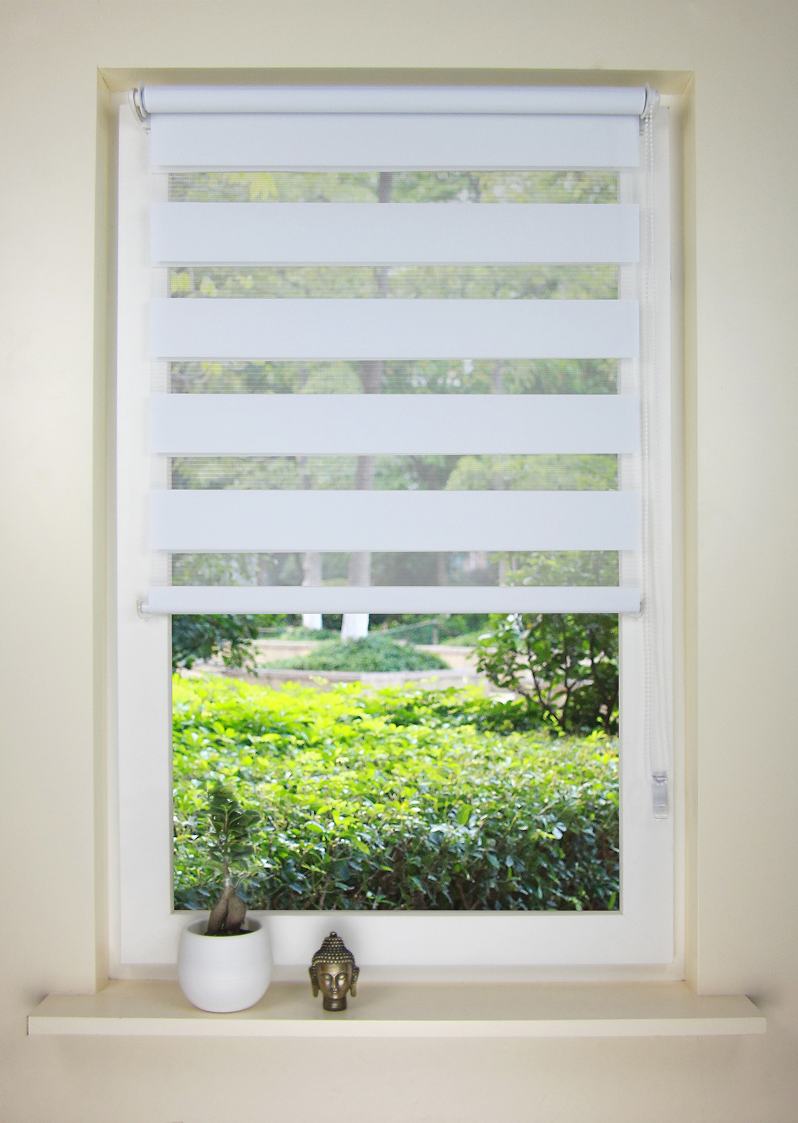 Double Roller Shades : European style double roller blind zebra shade home