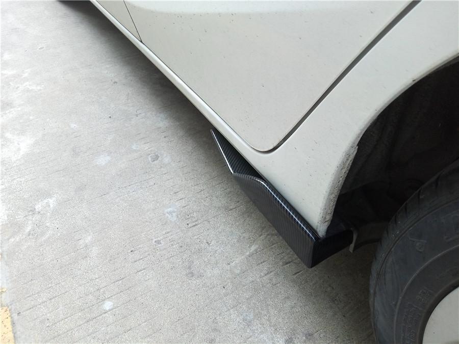 2X Car Side Skirt Rocker Splitters Canard Diffuser Winglet-Carbon Fiber Pattern
