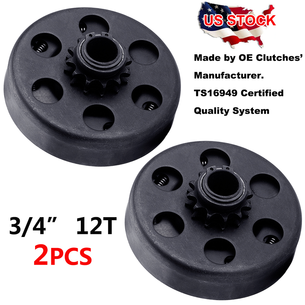 Centrifugal Clutch 3//4 Bore #35 Chain 12 Tooth for Go Karts Mini Bike Replace Parts 12T Centrifugal Clutch with #35 Chain