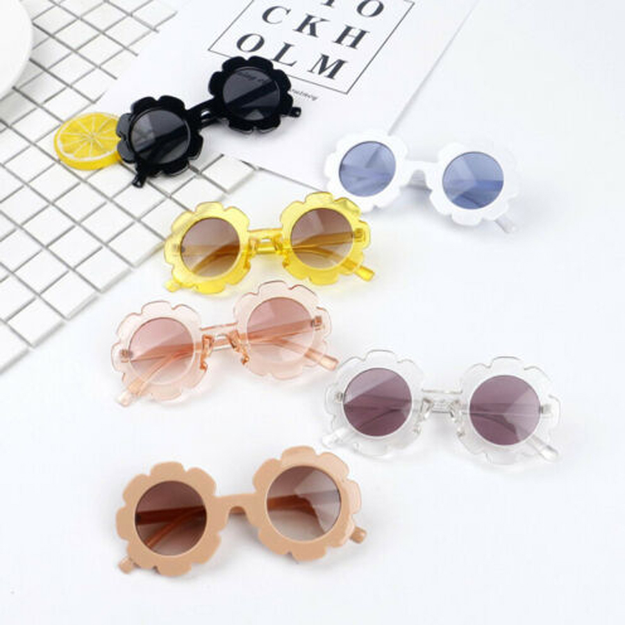 2a71f0ad7fdc Details about 2019 New Girl Boy Flower Shade Sunglasses Kids Toddler  Outdoor Goggles UV400 US