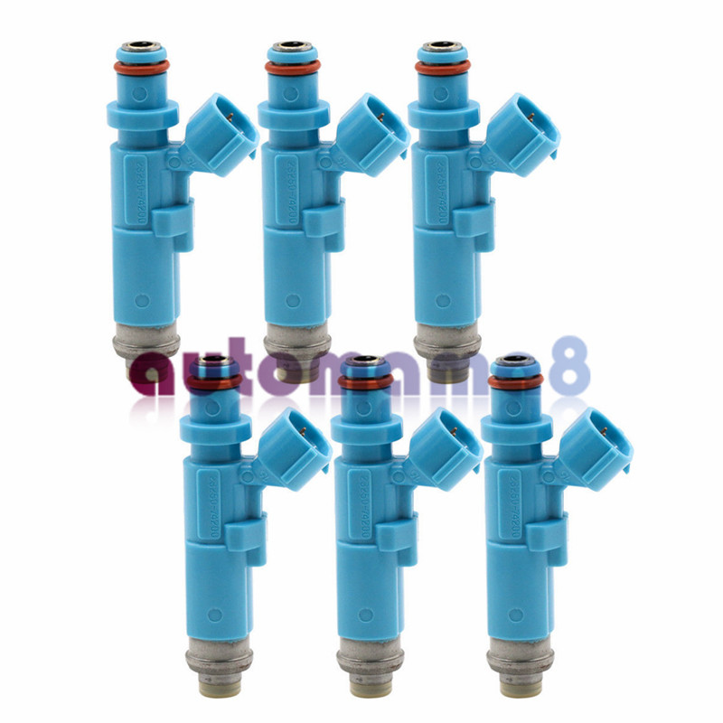Tested 6PCS 540CC Fuel Injector 23250-74200 for Toyota 4Runner Celica Corolla
