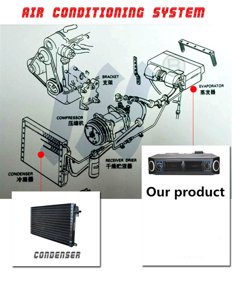 Universal Underdash Ac Evaporator 12v Heat Cool Air Conditioner Detailed A C Compressor Bracketry Installation Diagram Kit