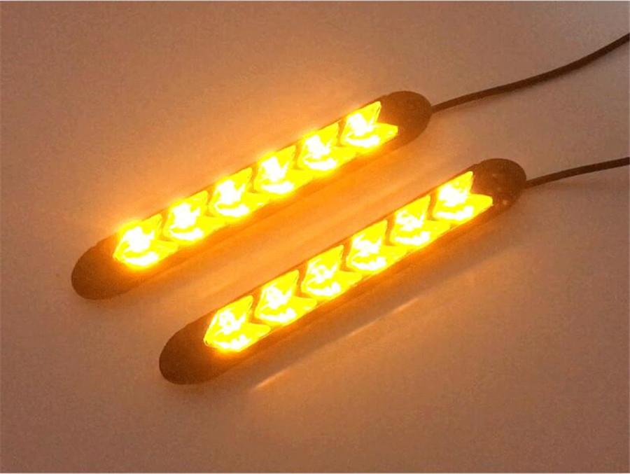 universal 18cm 12v led kfz blinker scheinwerfer gelb wei. Black Bedroom Furniture Sets. Home Design Ideas