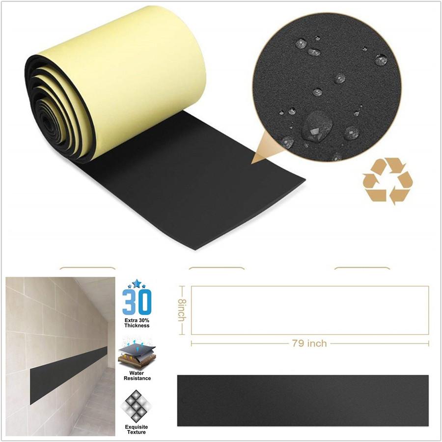 Self Adhesive Foam Door Parking Car Door Bumper Guard Garage Wall Protector 2pcs