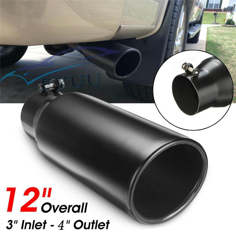"""2.25/"""" X 3.5/"""" X 12/"""" ROLLED ANGLE CUT STAINLESS STEEL EXHAUST TIP"""
