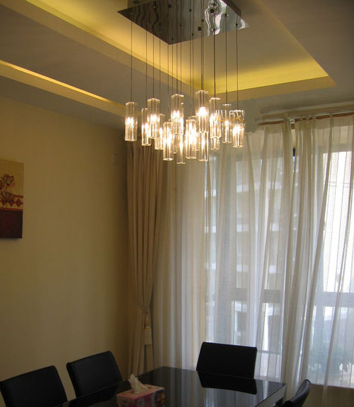 Details About Square Led Crystal Light Ceiling Lamp Fixtures Hang Chandelier Home Office G4