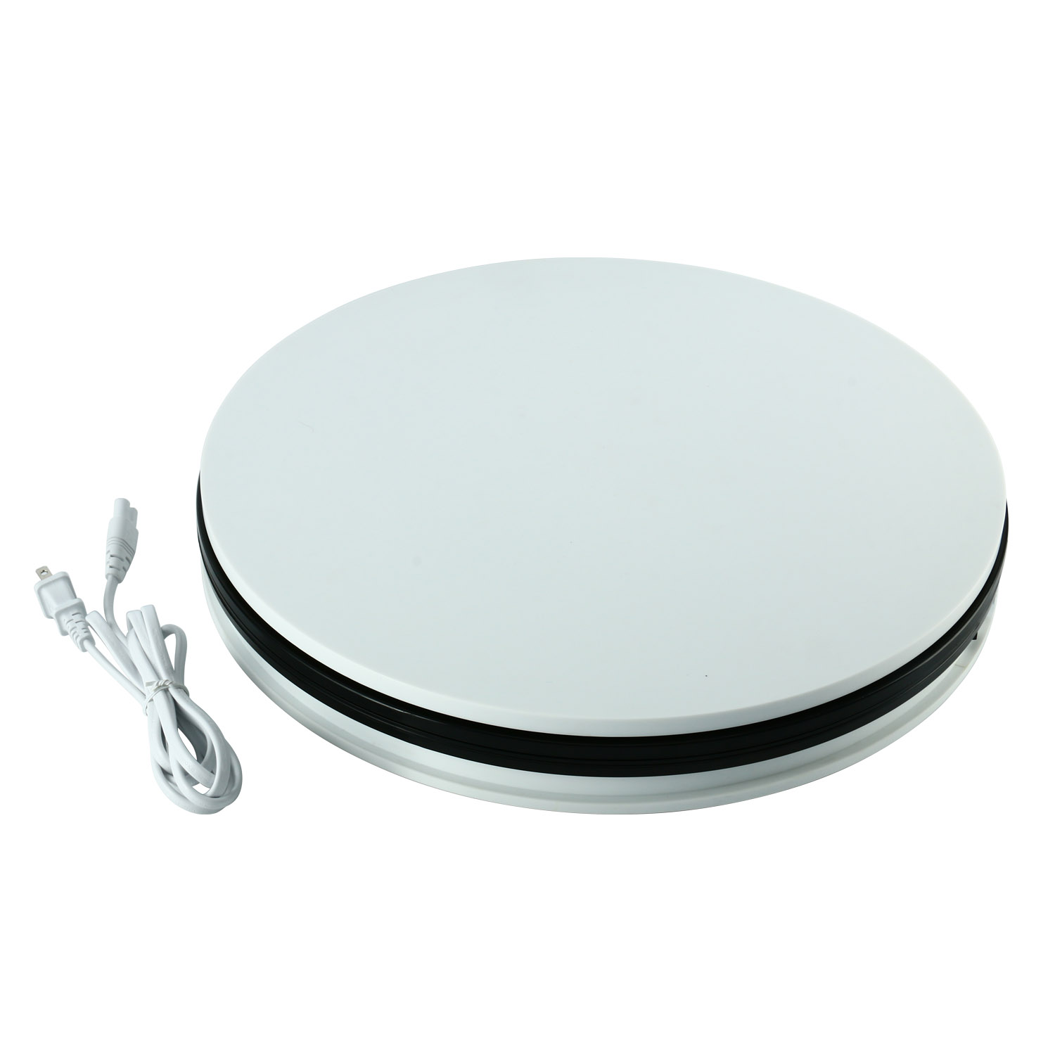 Details About Display Stand Electric Motorized Turntable 360 Rotating 110lbs Load 17 7 White