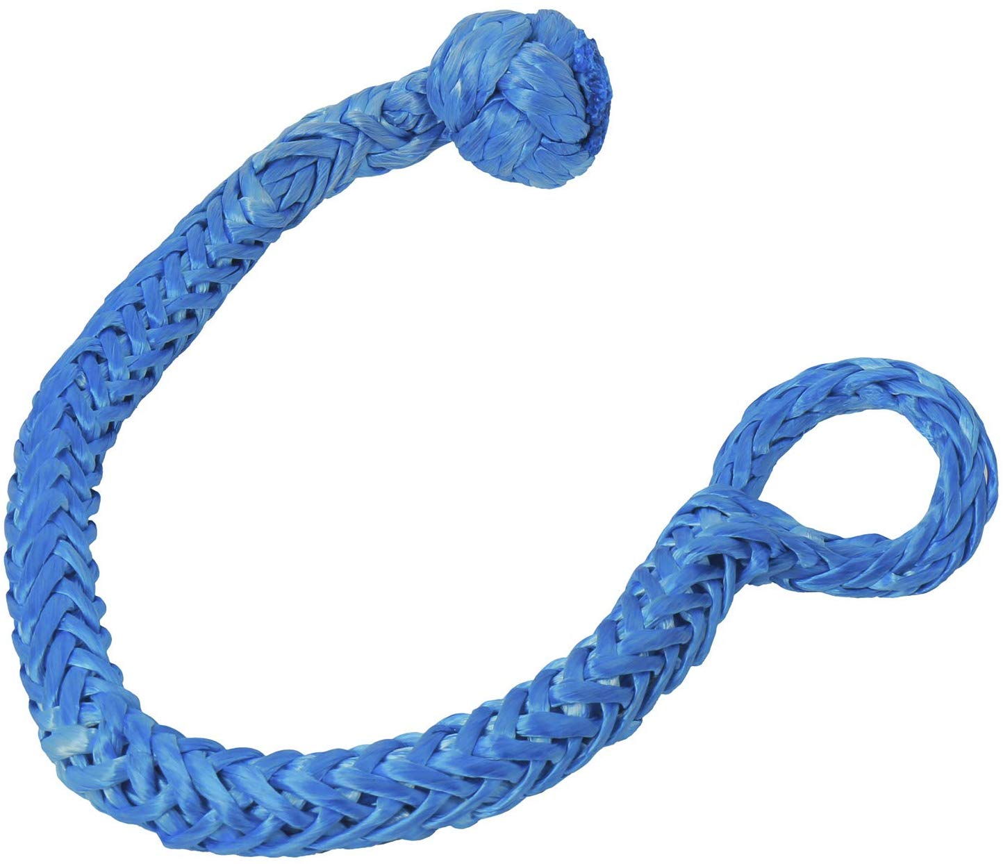 Blue NovelBee 2 Pack of Soft Shackles,UHWMPE 12 Strand Synthetic Rope,Inner core Dia:10mm;Bow Width:150mm