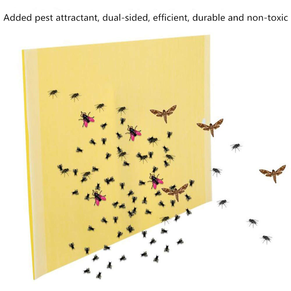 10//20PCS Dual-Sided Yellow Sticky Glue Paper Insect Trap Fly Catcher Killer HOT