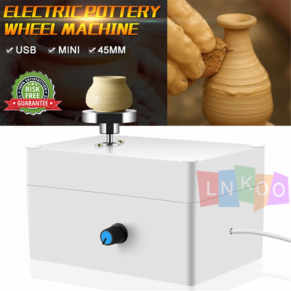Mini Electric Pottery Wheel Ceramic Work Clay Art Craft Production Machine Ebay