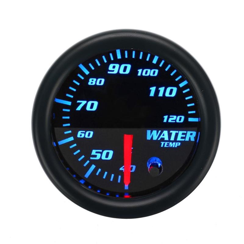 "Car 2/"" 52mm Water Temp Temperature Meter Gauge Blue LED with Sensor 40-120℃ K5G1"