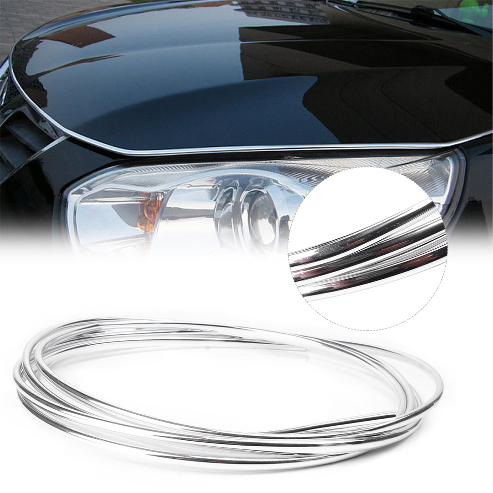 3M//10FT Chrome Moulding Trim Strip Car Door Edge Scratch Guard Protector Cover