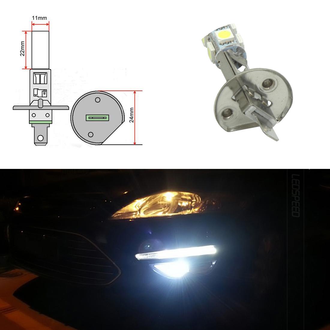 2x H1 9Smd 5050 Led 12v Car High Main Beam Headlight Bulbs Fog lamp Xenon White