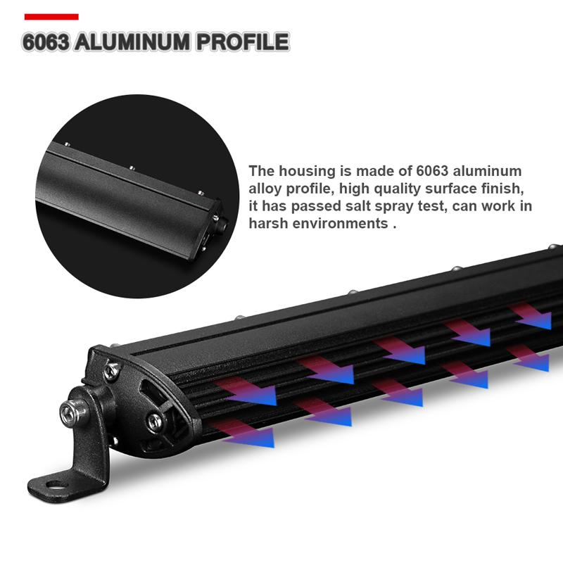 "5D Optical Single Row 40inch 150W Slim LED Light Bar Lamp Boat Truck CREE 42//43/"""