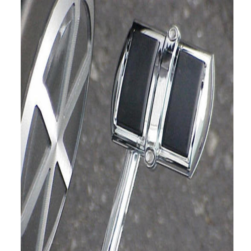 New Chrome Brake Pedal//Heel Shift Pad Cover with Black Non-Slip Rubber Pads Chrome Brake Pedal//Heel Shift Pad Cover Rubber